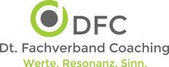 Logo vom DFC Dt. Fachverband Coaching. Barbara Dondrup als Coach im DFC Fachverband Mitglied.