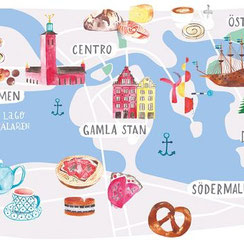 illustration visites stockholm