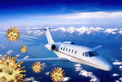 Vols en jet privé et coronavirus