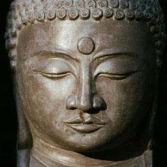 Kopf des Amida-Buddha
