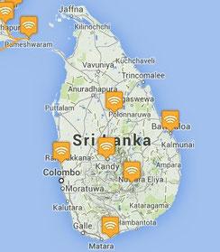Pour vous repérer durant votre lecture. Trajet: Colombo -> Kandy -> Polonnaruwa -> Baticaloa -> Ella -> Mathara -> Colombo