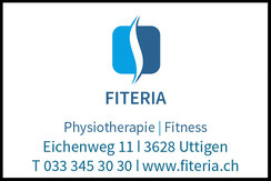 Fiteria, Physiotherapie und Fitness, Uttigen