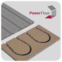 Power Floor Fußbodenheizung in Trockenbauweise