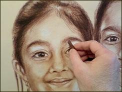Portrait à la sépia by crayon lunaire