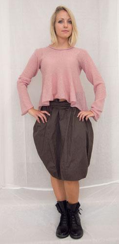 Pullover Glocke Rosé Kidmohair