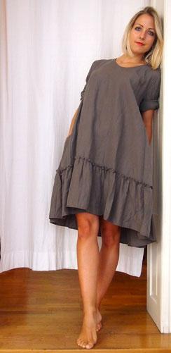 Kleid Bettina Grau Locker