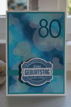 Zum 80. Geburtstag in blauem Bokeh - Patricia Stich 2015