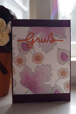 Herbstkarte mit Blättern - Patricia Stich 2015