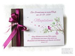 Foto Gästebuch Vogel im Baum Taufe Geburtstag Namensgebung Namensweihe Mädchen