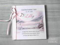 Gästebuch Mädchen Junge Taufe Kommunion Konfirmation Taufgästebuch personalisiert Taufbuch maritim Taufgeschenk individualisierbar in 21 Farben