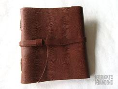 Lederbuch Reisetagebuch Ledertagebuch Gästebuch Leder personalisierbar 23cm x 24,5cm 100 Seiten weiß Ledereinband Softcover Kreuzstichbindung