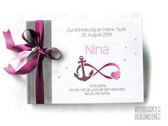 Foto Gästebuch Taufe in Wunschfarben und mit Symbolen der Taufkerze Infinity Anker Herz Sterne Taufbuch individualisierbar und personalisierbar