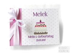 Foto Gästebuch 1. Geburtstag 1 Yasinda Mädchen Format 21cm x 15cm x 3cm 30 Blatt Fotokarton weiß Geburtstagstorte bunt mit 1 Kerze Name Datum rosa weiß