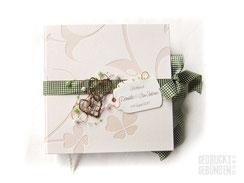 Foto Gästebuch Landhochzeit creme türkis Gästebuch Hochzeit Rebenherz Hochzeitsbuch Hochzeitsgeschenk Wedding Guestbook Memories Hochzeitsfotogästebuch