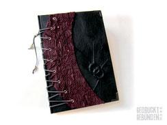Foto Gästebuch schwarze Hochzeit Hochzeitsgästebuch Corsage dunkelrot schwarz Hochzeitsgeschenk Gothic Hochzeit