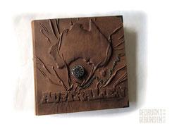 Fotoalbum Zeitreise Australien mechanische Taschenuhr Fotobuch antikbraun Erinnerungsalbum Reisetagebuch 18. Geburtstag Hochzeitsgeschenk