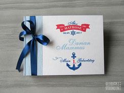 Foto Gästebuch 1. Geburtstag maritim blau weiß rot Kindergeburtstag Geburtstagsgeschenk Buch Geburtstag personalisiert