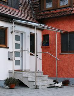 Z116 Edelstahl Glasdach mit Handlauf