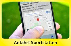 Anfahrt Navi Sportanlagen Sparta Bardenberg
