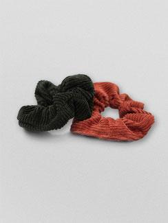 Zacamo - Scrunchie - Scrunchie Set Forest - Scrunchies - Haargummi - Haargummis - Haarschmuck - Haarband - Haargummi Cord - Scrunchie Cord - Vintage - Retro