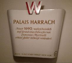 Alte, originale Emailschilder ab 1920: z.B. Palais Harrach