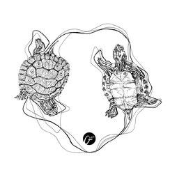 Tattoo Entwurf, Fuchs, Illustration