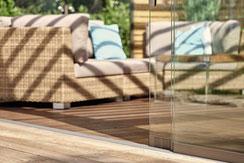 warema Glasschiebeelemente für Lamellendächer