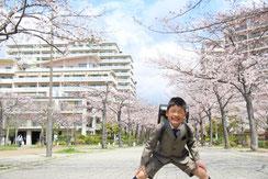 桜も笑顔も満開,ふうさん,桜フォトコンテスト,2020,常盤堂 雷おこし本舗賞