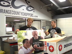 Werbefolie bei Orange County Choppers in New York
