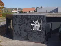 Fassadenbeschriftung Firma Ruocco in Schüpfen