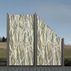 Glaszaun-Windschutz