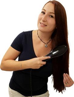 Efalock Easy Straight Brush mit Frau lange rote Haare