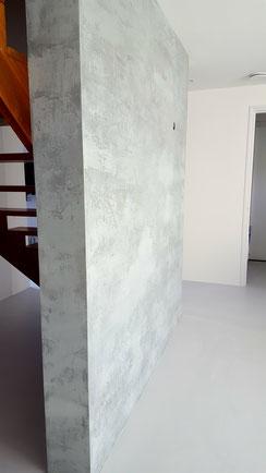 Betonlook wand met een stoere en unieke uitstraling