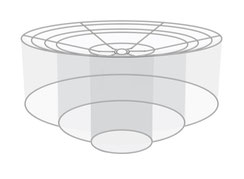 Lampenschirm stufig Design Saturn