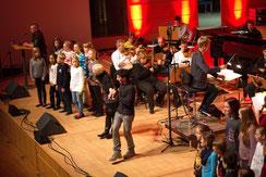 Bühnenorchesterprobe, alle Beteiligten