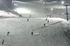 Nachtskifahren, Skigebiet Hocheck Oberaudorf, Flutlicht