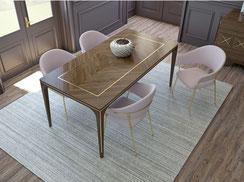 Lubiex, lubiex by essegi, SG arredamenti, zona giorno, sala pranzo, tavolo, sedie, credenza