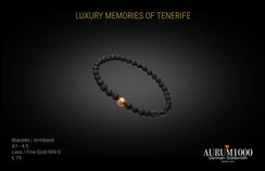 Feingoldspezialist Nr.1 - Feingold 999 Armband mit Lava -  Krahn Design - Aurum1000