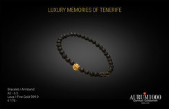 Bracelet - Lava with Fine Gold 999.9