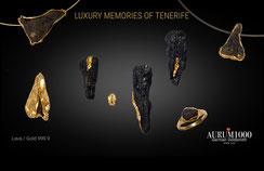 Pendants - Lava with Fine Gold 999.9