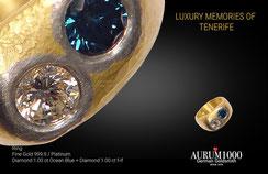 Krahn Design by Aurum1000 - Fine Gold 999.9 Ring with Diamonds