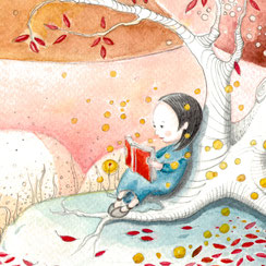 illustration-kind-meadchen-baum