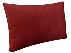 Samtkissen 60 x 40, bordeaux / rot mit Federn