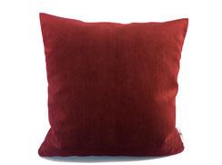Samtkissen 40 cm x 40 cm, rot / bordeaux