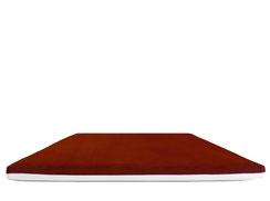 Wendesitzkissen rot / bordeaux mit weißem Kunstleder