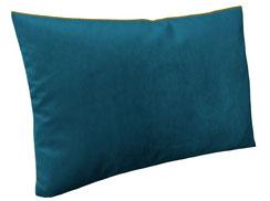 Samtkissen 60 x 40 blau mit Federn