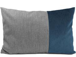 Sofakissen 40 cm x 60 cm blau grau