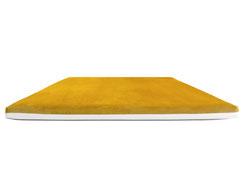 Wendekissen goldgelb mit weißem Kunstleder