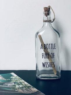 bottle message, bouteille message, déco cadeau, webshop déco