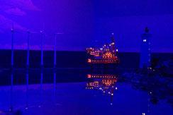 Rolf Löser – Violett, Nacht im Miniaturwunderland